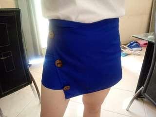 Blue Button Skort