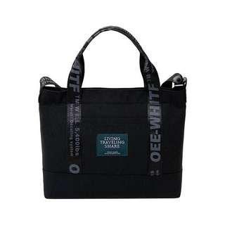 Black Fashion Canvas Tote Sling bag