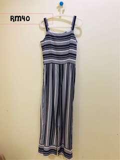 Stripes long jumpsuit