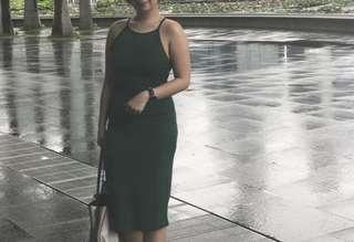 Strappy Green Dress