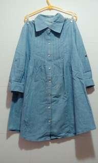 水洗牛仔布連身裙
