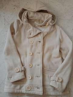 🚚 二手米色刷毛排扣外套