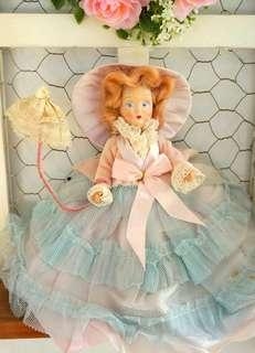 古董維多利亞仕女硬膠娃