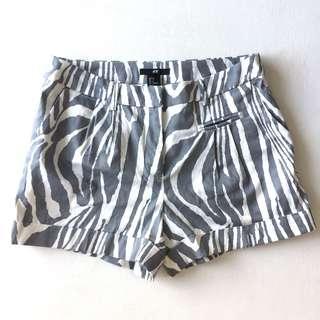 H&M Shorts Zebra Print