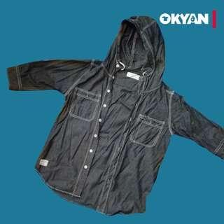 Black Chocolate sleeve 3/4 with hoodie