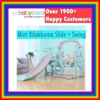🚚 Rilakkuma Hello Kitty Slide + Swing + Basketball 3 in 1 Set