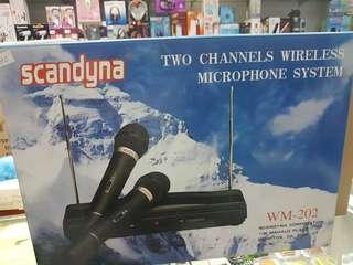 TWO CHANNELS WIRELESS MICROPHONE SYSTEM