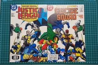 Back to back Suicide Squad/Justice league #13 1988