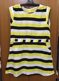 BIG STRIPED SLEEVELESS DRESS