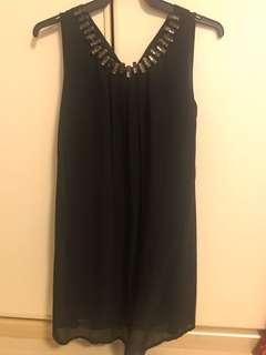 Little black dress with sequins