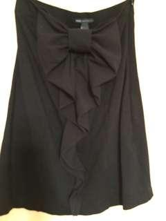 Solid Black Tube Dress Mango Casual