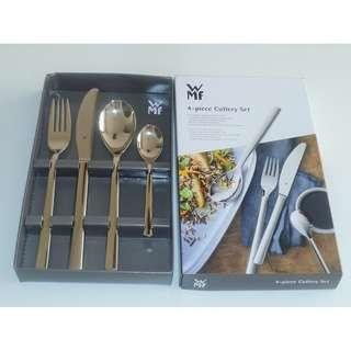 Brand New ! Authentic  WMF 4-pcs. Palermo  Cutlery Set, Gloss Finish Stainless Steel