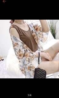 🚚 碎花罩衫