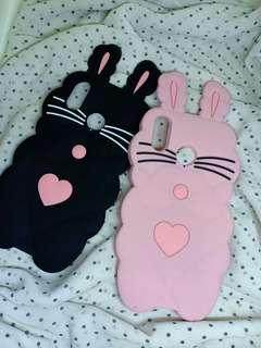 New! 2 colors! Cat Hearts & Whiskers Rubber Case
