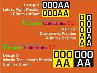 Escooter Registration plate