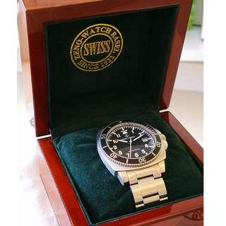 Swiss Made ZENO ARMY Automatic Diver watch (瑞士裝 ZENO ARMY 自動機械潛水錶)