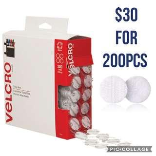 *Brand New* VELCRO Brand Sticky Back - 1.9cm Coins, 200 Sets - White Educational Craft DIY Materials for Homeschooling (Great for Literacy Learning) Tot / Home School Teaching Resources