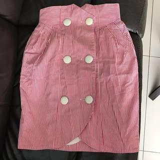 Striped Vintage High-waisted Skirt