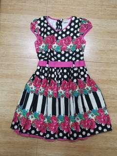 Dress black polkadot
