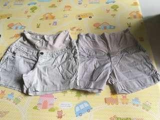 H&M maternity mama khaki shorts