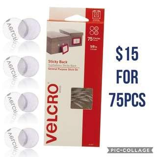 *Brand New* VELCRO Brand - Sticky Back 1.5cm Coins Dots, 75 Sets Clear Educational Art and Craft DIY Materials for Homeschooling (Great for Literacy Learning) Tot / Home School Teaching Resources