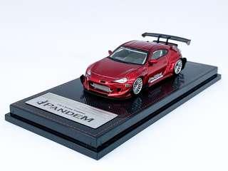 Ignition Model 1/64 Pandem Toyota 86 V3 - Red Metallic (Tarmac Works Exclusive)