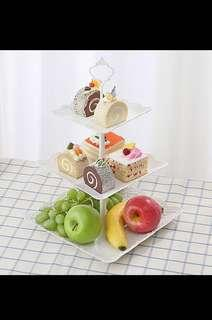 New Plastic 3 tier cupcakes display party dessert plater fruit display steamboat plates