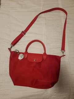 Longchamp Le Pliage Neo in red (medium)