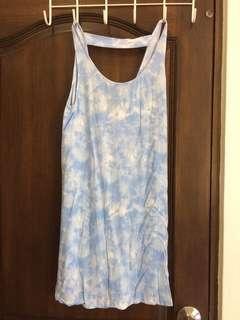 VANS sky blue tie dye boho beach dress