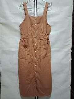 🚚 全新咖啡色吊帶裙