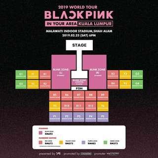 [REDUCED] Blackpink Ticket Concert Tour 2019 BLINK ZONE