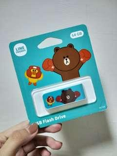 🚚 Line friends USB 隨身碟 熊大 64G