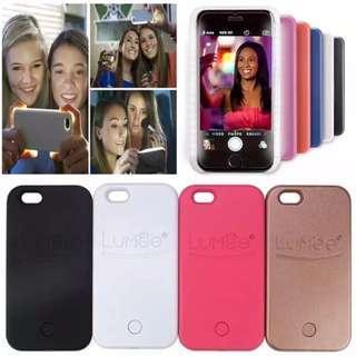 Brand New Instocks LUMEE Light Up Selfie Phone Case Cover Casing - Apple IPhone 5/5S/SE, 6/6S, 6/6S Plus, 7 & 7 Plus Samsung Galaxy S6, S6 Edge, S7, S7 Edge, Note 5 - Black White Pink Bronze (Keywords: luminous camera light up 7plus)