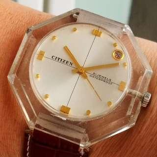 Citizen Octagon manual winding watch (Made in Japan) (日本製星辰八角型膠錶身手上錬錶)