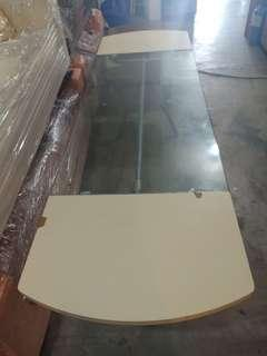 Long rectangle table/conference table glass on top