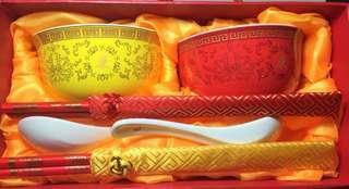 (餐瓷套裝)景德鎮雙碗雙筷雙匙
