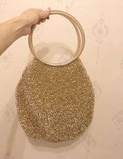Wire handbag gold