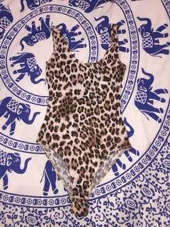 Leopard print one piece / bodysuit