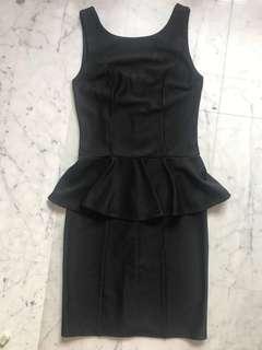 ASOS Black Peplum office Dress