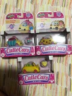 BNIB shopkins cutie car bundle deal