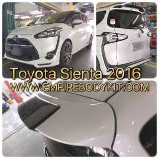 Spoiler for Toyota Sienta 2016 to 2019