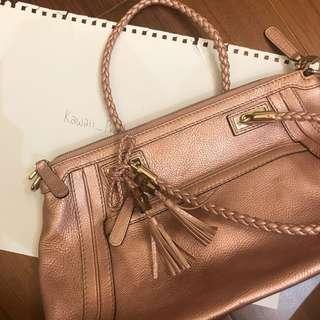 Gucci 九成新正品 粉紅色手袋