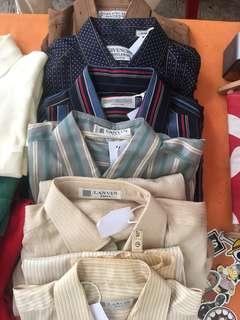 Vintage Givenchy and Lanvin Silk Shirt
