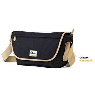 🚚 Lowepro Urban+ Messenger Camera Bag (Black & Blue)