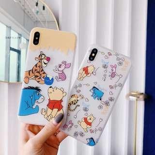 Winnie the Pooh IPhone Sleeve Case 6 6S 7 8 Plus X Xr Xs Max