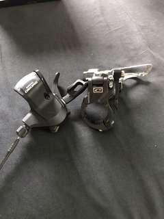 shimano deore front shifter & FD