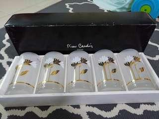 Clearance! Pierre Cardin tumbler set Sasaki Glass