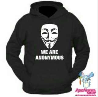 Jaket Hoodie Jumper Costum Anonymous