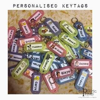 Personalised / Customised Keyrings or Keytags