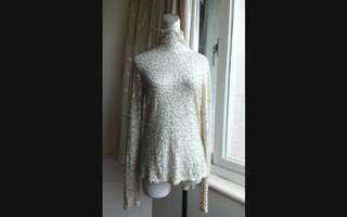 🚚 iROO 重工 奢華手工縫珠 純棉針織衫